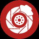 Bremsscheibe-rot