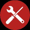 Werkzeug-rot